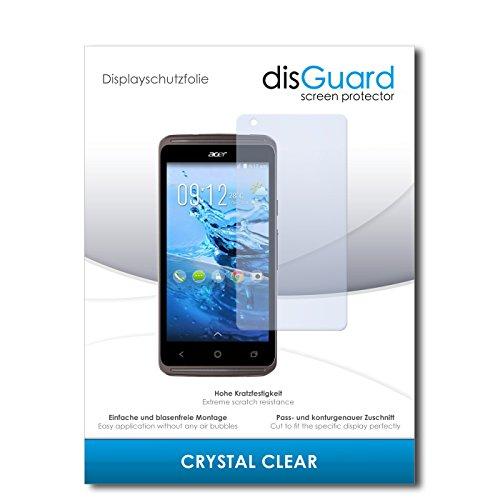 disGuard® Bildschirmschutzfolie [Crystal Clear] kompatibel mit Acer Liquid Z410 Plus [4 Stück] Kristallklar, Transparent, Unsichtbar, Extrem Kratzfest, Anti-Fingerabdruck - Panzerglas Folie, Schutzfolie