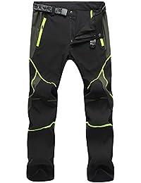 SUKUTU Ropa Deportiva de los Hombres Ligero Impermeable Transpirable Secado rápido Senderismo Montaña Pantalones de Carga Pantalones SU001