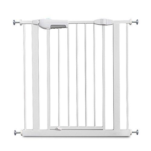 YNN La porte de sécurité des enfants sans forer adapter la largeur de porte 75-84cm Stairway Barrière (taille : 140-149cm(+45+20cm))
