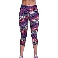 Sannysis Alta Sport pantalones yoga YOGA Pantalones pirata para mujer deporte (B, XL)