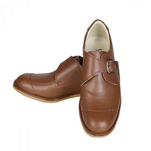 Jungen Schnalle Chukka braune Schuhe Kinder formelle braune Schuhe Hochzeit Schuhe für Kinder - Braun, 34 EU (Braune Schuhe Jungen)