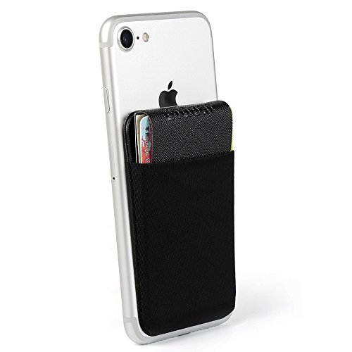 Card Holder Tasche Wallet, bidear (TM)-Selbstklebende Flexible Kredit ID Card Geldbörse Fall Befestigen auf Handy Wie iPhone Android, Fashion Black (Fällen Android Optimus)