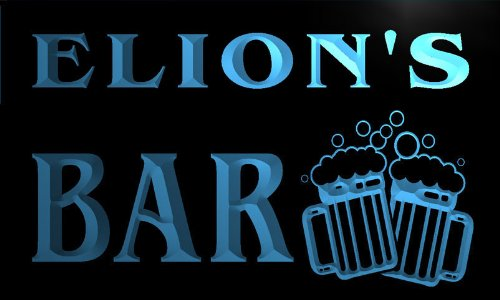 w071213-b-elion-name-home-bar-pub-beer-mugs-cheers-neon-light-sign