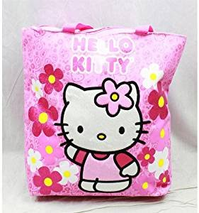 Sac fourre-tout – Hello Kitty – Fleurs rose Gifts Girls Sac à main à la main 82589