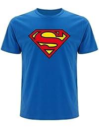 Superman–Camiseta para hombre, con logo (Unisex)