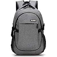 Waterproof Travel packpack with USB Charging Port School Bag for Junior College Students work Men