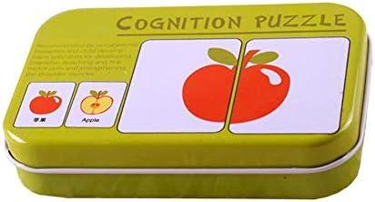 TOOGOO Flash Carte scie a chantourner cognition Puzzle Correspondance Correspondance Correspondance de Forme Puzzle Apprentissage Cognitif Carte D'education Precoce Apprentissage Jouets dans Une Boite 0cd851