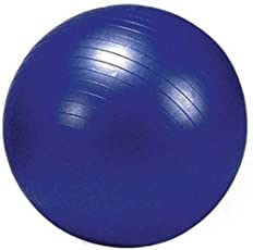 Nivia Anti Burst Ball With Foot Pump-Blue 85cm