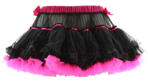 (Wild Rose Petticoat BALLERINA SKIRT black-hot pink Schwarz M-L)