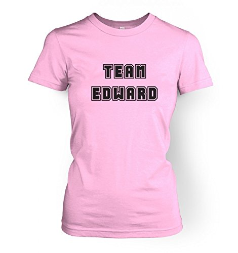 Varsity Style Team Edward WoHerren t-shirt - Twilight (Large (approx size 12)/Light Rosa) (Edward Light T-shirt)