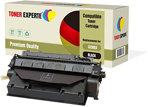 TONER EXPERTE Compatible CE505X 05X Cartucho de Tóner Láser para HP Laserjet P2050 P2053 P2053d P2053n P2054 P2054d P2054n P2055 P2055d P2055dn P2055x P2056 P2056d P2056n P2057 P2057d