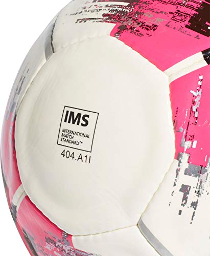 adidas Herren Team Artificial Soccer Ball, White/Shock pink/Black/Silver met, 5