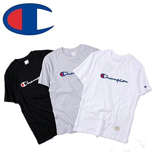 BOMOVO Herren CHAMPION T-Shirt Granddad Shirt Weiß