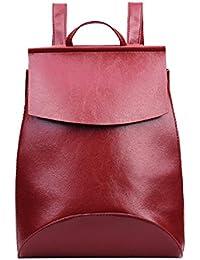 Webla Mujeres Casual de cuero pequeño mochila de escuela universitaria de viajes bolso para las niñas
