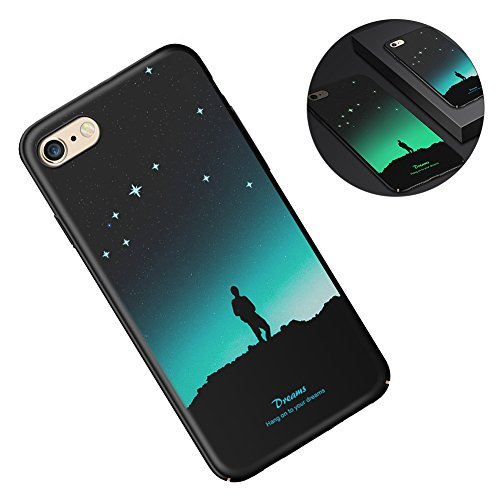Coque iPhone 6 Silicone, Aeeque® Motif Attrape Reves Noir Etui Coque iPhone 6S Original Homme 3D Lumineuse Noctilucent Design Arrière Bumper avec Anti-rayure Shock Absorption Housse Protection Accessories per iPhone 6S/ iPhone 6