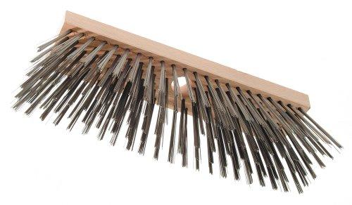 Haromac Stahldrahtbesen 6-reihig, 300 mm aus Flachholz mit Stielloch, 23-24 mm ohne Stiel, 2709300