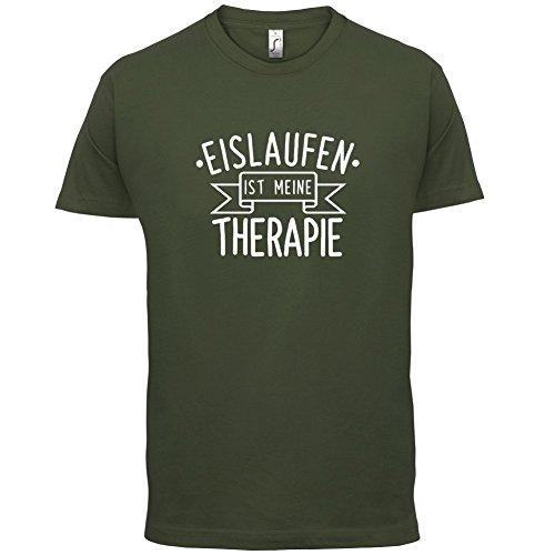 Eislaufen ist meine Therapie - Herren T-Shirt - 13 Farben Olivgrün