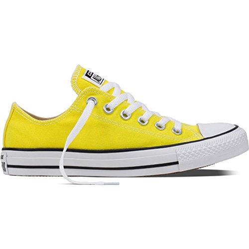 Converse Ctas Ox, Sneaker a Collo Basso Unisex - Adulto, Giallo (Fresh Yellow), 35 EU