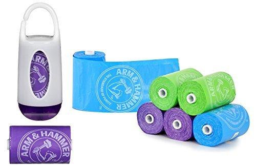 munchkin-arm-and-hammer-diaper-bag-dispenser-with-72-count-diaper-bag-refills