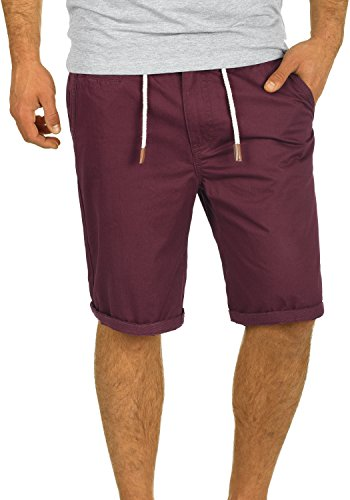 BLEND 20701249ME Chino Shorts, Größe:M;Farbe:Wine Red (73812)