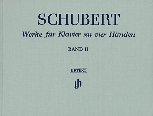 Werke für Klavier zu vier Händen, Band II; Leinenausgabe