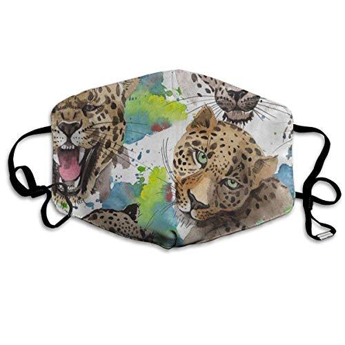 Leopard Halb Maske - Mund Maske, Face Mask, Dustproof Anti-Bacterial