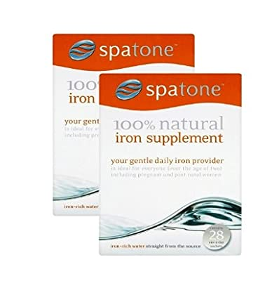 Nelsons Spatone 100% Natural Iron Supplement(28 one-a-day sachets) Pack of 2 by Nelsons
