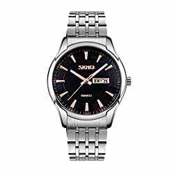 Skmei Classic Design stainless Steel Analog Watch -9125