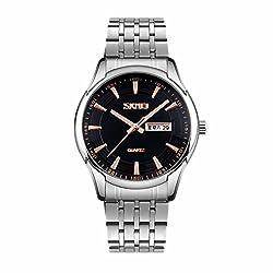 Skmei Classic Design stainless Steel Analog Watch -9125