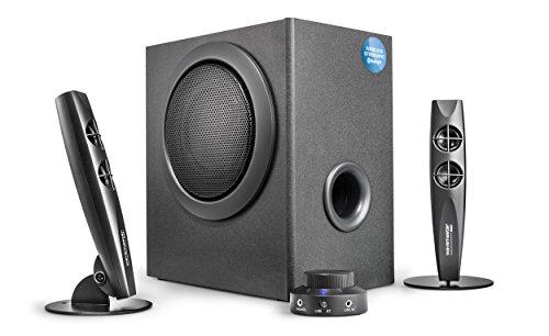 Wavemaster STAX BT 2.1 Lautsprecher System (46 Watt) mit Bluetooth-Streaming Aktiv-Boxen Nutzung für TV/Tablet/Smartphone/PC schwarz (66211)