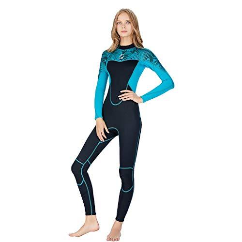 LOPILY Damen Schnorchelanzug Tauchanzug Sonnencreme UV Schutz Surfbekleidung Wetsuit Schlankheits Schnelltrocknend Wassersport Anzug Neoprenanzug Surfanzug(Blau,M)