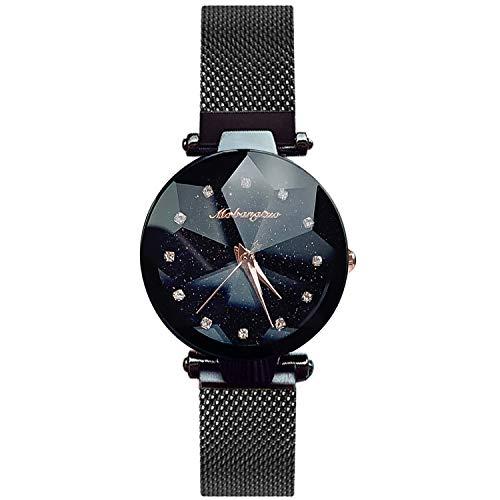 RORIOS Armbanduhren für Damen Mesh Armbanduhr Simulierter Diamant Dail Women Watch Damen Uhr