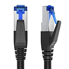KabelDirekt - 3 m - CAT7 Ethernet, Network, Lan & Patch Cable (transfers up to 10 Gb per second & is compatible with High Speed Gigabit networks, Switches, Routers, Modems with RJ45 port, blue)