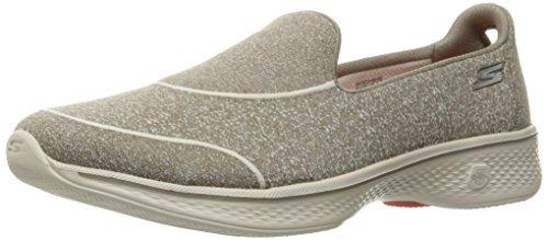 Skechers Gowalk 4-Super Sock 4, Zapatillas para Mujer, Beige (TPE), 40 EU