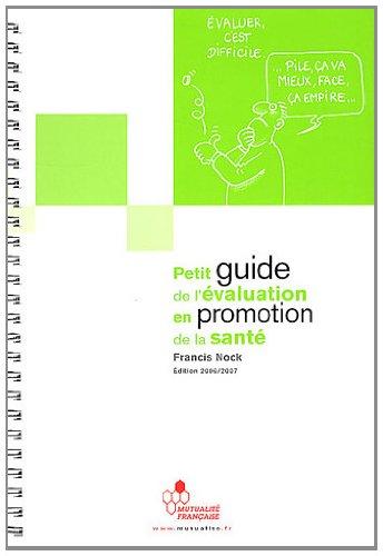 Petit guide de l'évaluation en promotion de la santé