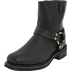 Harley Davidson EL PASO /BLK SHORT HARNESS W/INSIDE ZIP 94422 - Botas de cuero para hombre, color negro, talla 41