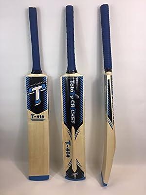 Cinta/pelota de tenis bate de críquet t414b Can mango, ligero, tamaño adulto