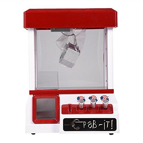 Zerodis Mini Greifautomat Candy Puppen Grabber Elektronische Musical Plüschtiere Catcher Spielautomat für Kinder
