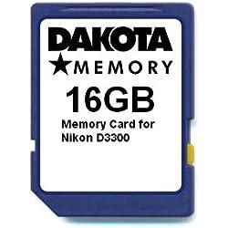 16GB Memory Card for Nikon D3300