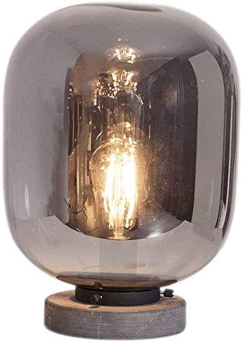 Lámpara de Mesa E27 LED 6Watt, Vidrio Ahumado, Salón Skandinavisch ...