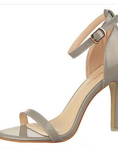 WSS 2016 Chaussures Femme-Décontracté-Noir / Violet / Rouge / Argent / Gris / Beige-Gros Talon-Talons-Talons-Laine synthétique silver-us5 / eu35 / uk3 / cn34