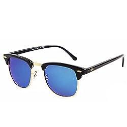 Unique Enterprise Unisex clubmaster Sunglasses (blueclubmaster)