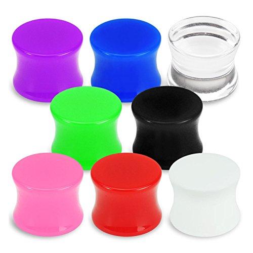 Piercing-Dreams - Dilatatori in silicone, morbidi e flessibili, colori e dimensioni vari, Nero (nero), 8,0 mm - Nero Gioielli Silicone