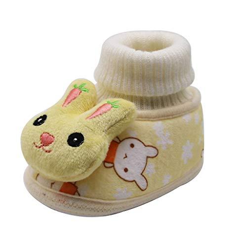 LEXUPE Baby schönen Herbst Winter warme weiche Sohle Schneeschuhe weiche Krippe Schuhkleinkind Stiefel (Gelb,11)