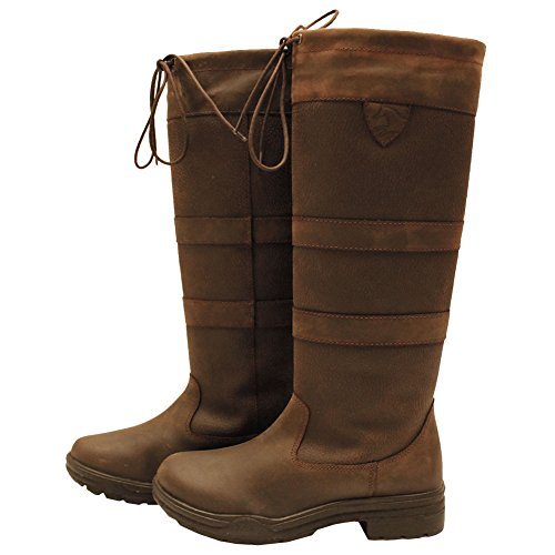 Horseware Irland lang Country-Stiefel-Leder Wasserdicht Atmungsaktiv Reiten, braun - Protector Pferd Body