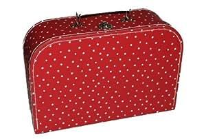 Kinderkoffer MITTEL rot weiße Punkte Puppenkoffer Koffer Kinder Puppen