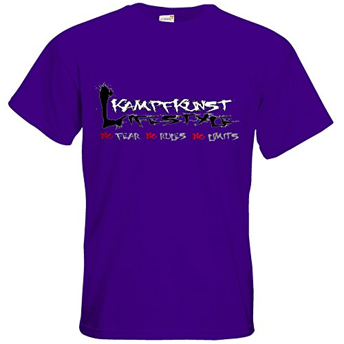 getshirts - Kampfkunst Lifestyle Shop - T-Shirt - Kampfkunst Lifestyle - Logo 1 Purple