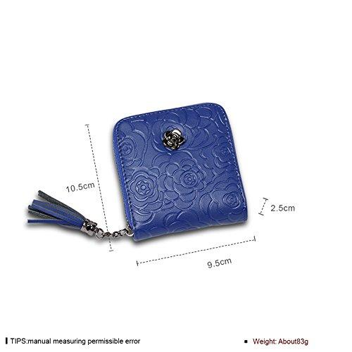 Faysting EU donna portafoglio donna borsellino multi colori piazza forma con nappa buon regalo D