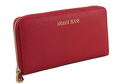 Armani Jeans , Portafogli , rosso (rot), B 19 x H 10,5 x T 2,5