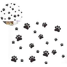 Hilai Póster Divertido de Huellas de Perro y Gato habitación de niños, Pegatinas de Pared